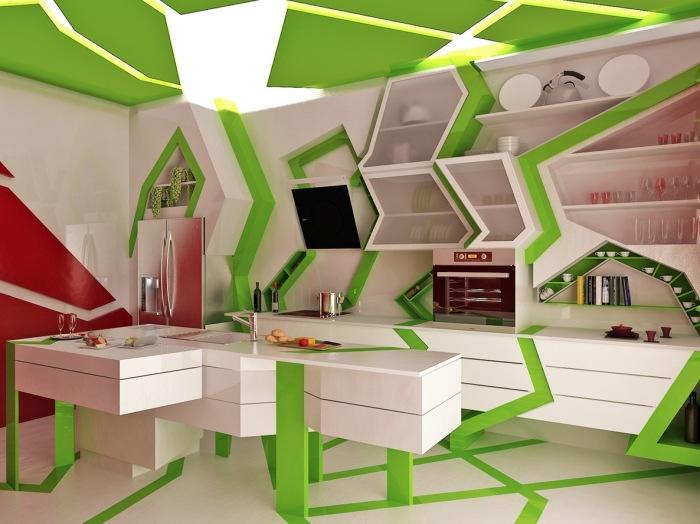 Кухня в стиле деконструкивизм.
