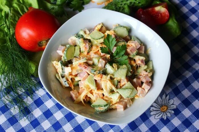 Лёгкий и вкусный салат. \ Фото: 0542.ua.
