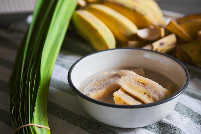 Банановый десерт на кокосовом молоке. \ Фото: jollykitchenwithkiet.com.