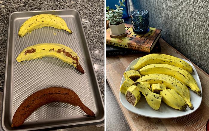 Формочки для выпекания из банановой кожуры. \ Фото: kvartira.mirtesen.ru.