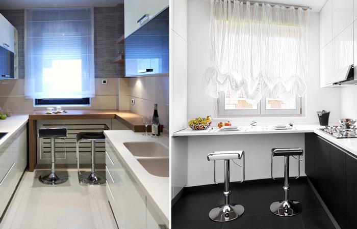 Современные идеи дизайна маленькой кухни.