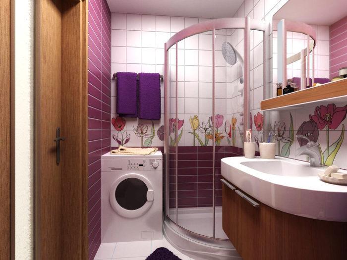 Идеи дизайна маленькой комнаты со стиральной машиной.