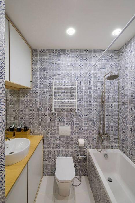 Точечный свет - как всегда прекрасное решение в плане освещения ванной комнаты.