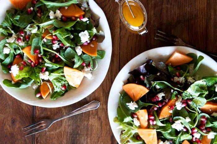 Тёплый салат с тыквой и мандаринами. \ Фото: google.com.ua.
