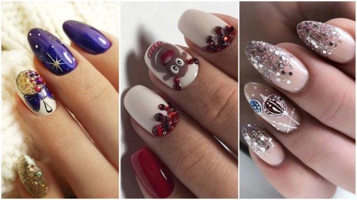 Идеи новогоднего маникюра. \ Фото: nail-trend.ru.