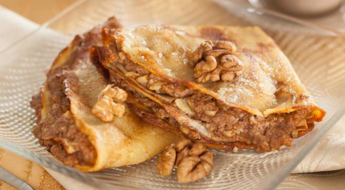 Блины с ореховой начинкой. \ Фото: pinterest.at.