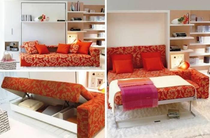 Шкаф-кровать - удачный вариант для хранения множества различных вещей от одежды до постельного белья и не только.