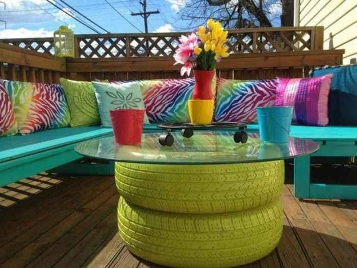 Садовая мебель из шин своими руками. \ Фото: google.com.ua.
