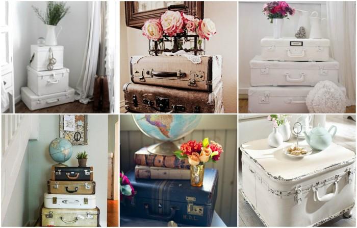 Мебель из чемоданов. \ Фото: rocioboliver.com.