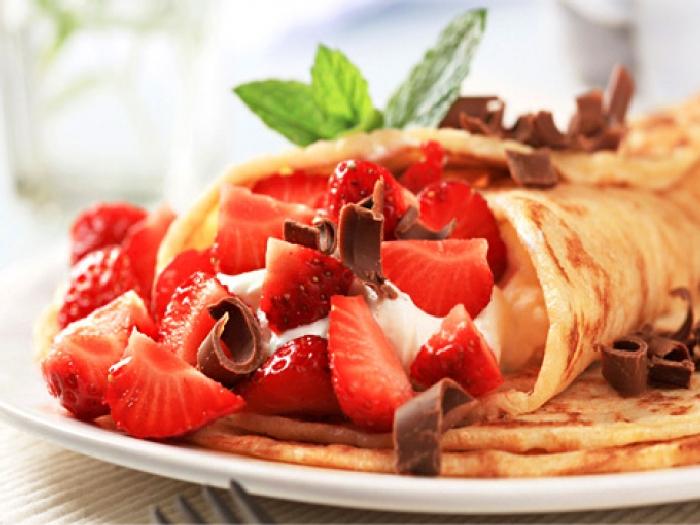 Потрясающе вкусные блинчики с оригинальной начинкой. \ Фото: smak.ua.