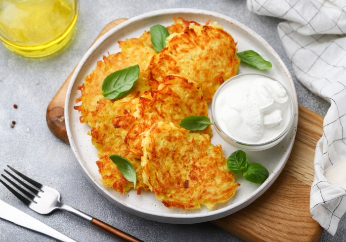 Картофельные драники. \ Фото: menunedeli.ru.