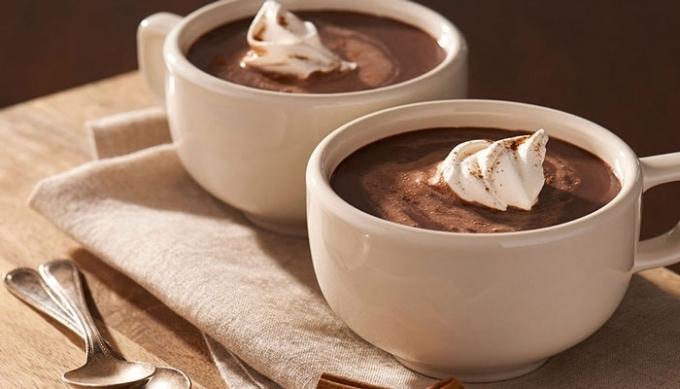 Горячий шоколад с мороженым.