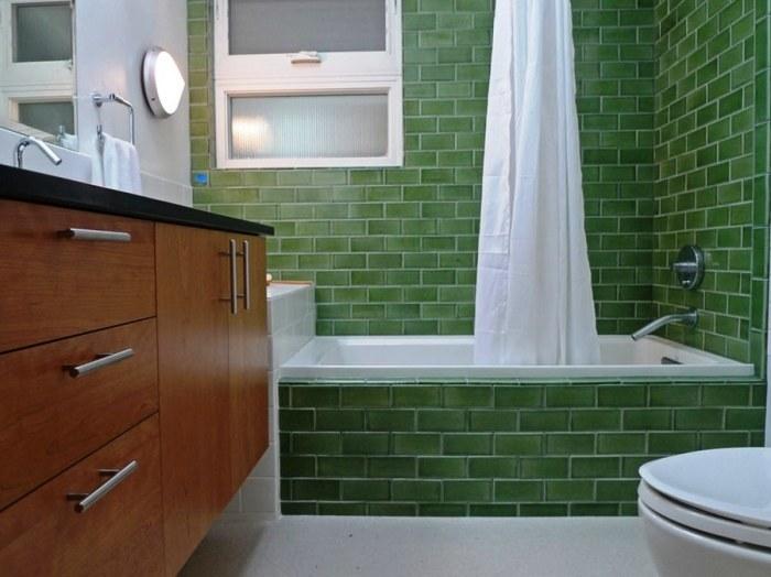 Нефритовые стены идеально будут смотреться в ванной комнате.
