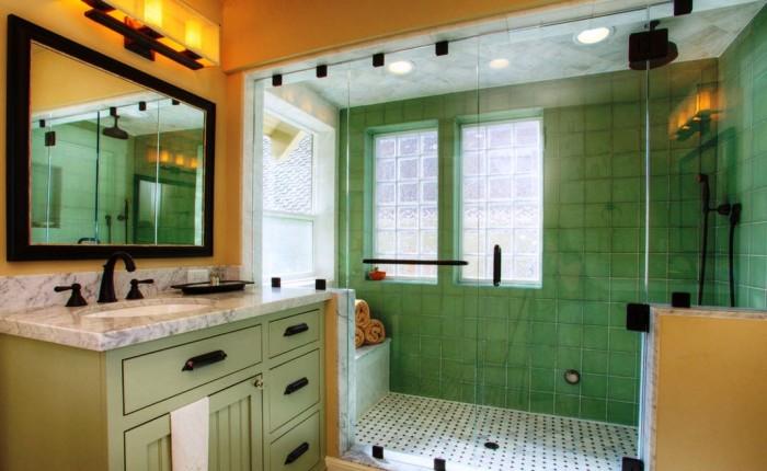 Стильный современный интерьер ванной комнаты.