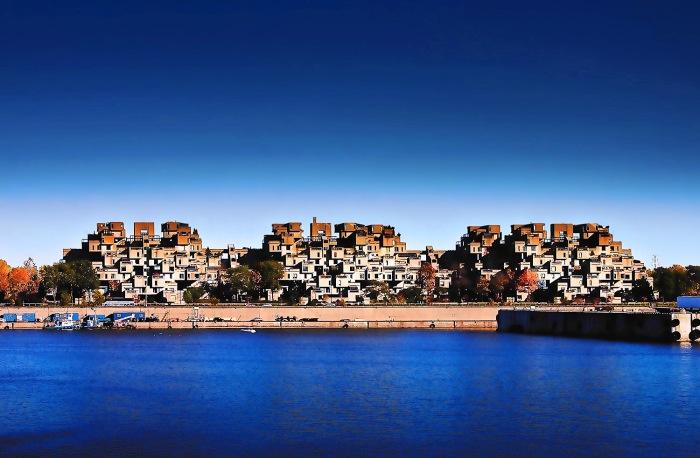 Необычный жилой комплекс в Монреале был спроектирован архитектором Моше Сафди в 1966–1967 годах.