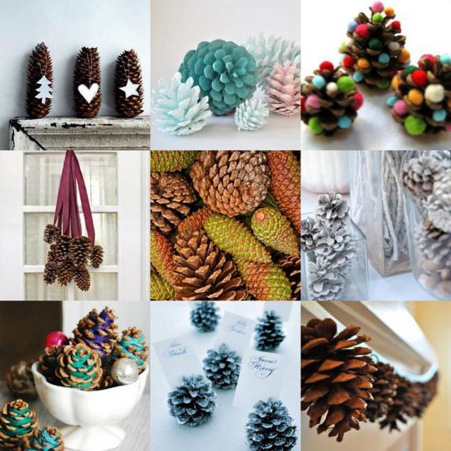 Сосновые шишки бывают различных форм и размеров. Они идеальны для декорирования.