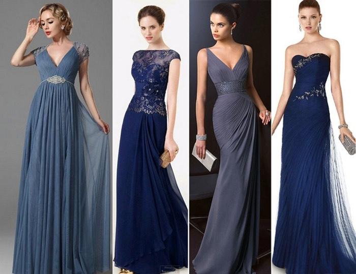 Элегантные платья благородных цветов.