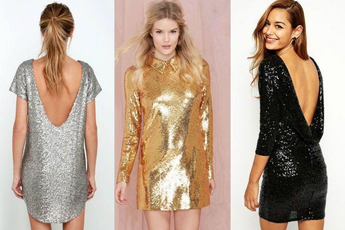 Платья из блестящих тканей. \ Фото: bravo.am.