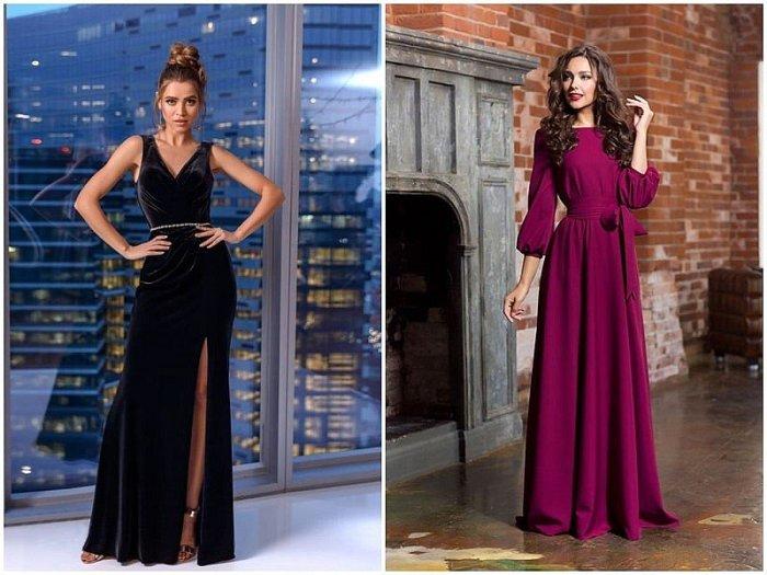 Новогодние вечерние платья. \ Фото: issaplus.com.