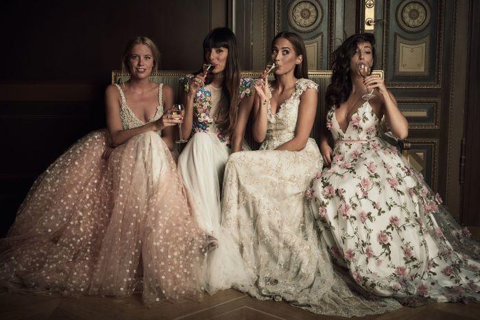 Нежные вечерние платья на Новый год. \ Фото: pinterest.com.
