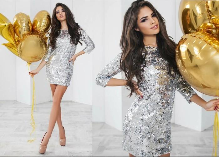 Платье металлик. \ Фото: yandex.ru.