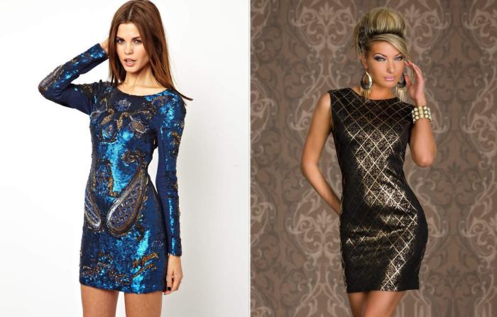 Платье с блестящим принтом. \ Фото: mixshowroom.ru.