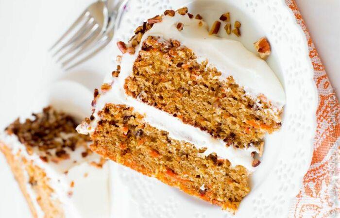Морковный торт с орешками. \ Фото: pinterest.co.kr.