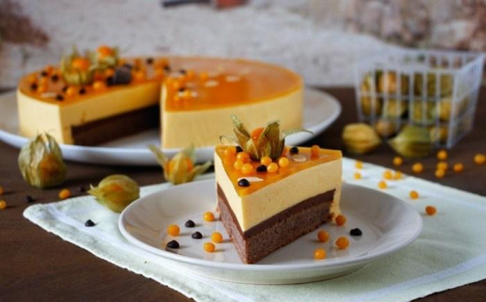 Шоколадный торт с облепиховым кремом. \ Фото: google.com.