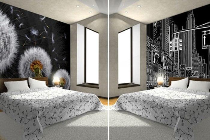 3D обои в классическом чёрно-белом стиле.