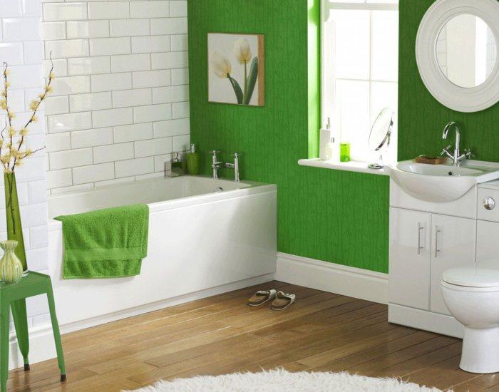 Стеклообои для ванной - альтернатива кафелю.