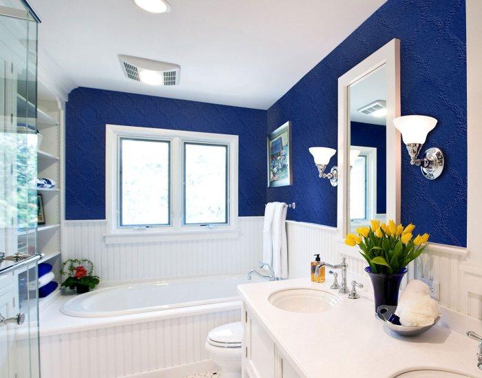 Стелообои - современное решение для ванной комнаты.
