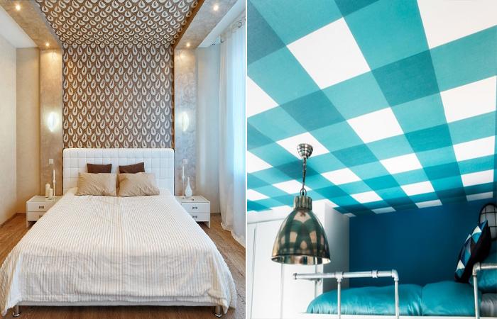 Креативные идеи декора, или обои на потолок.
