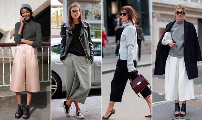 Кюлоты - популярные брюки, от которых стоит отказаться. \ Фото: 24smi.org.