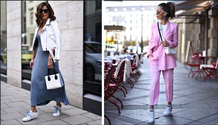 Кроссовки в гардеробе женщин за сорок. \ Фото: ladyline.me.