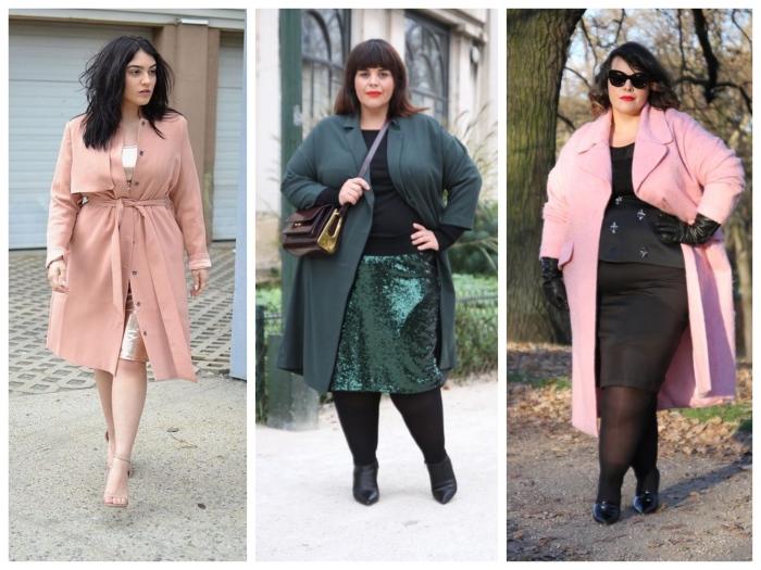 Пальто для полных женщин. \ Фото: google.ru.