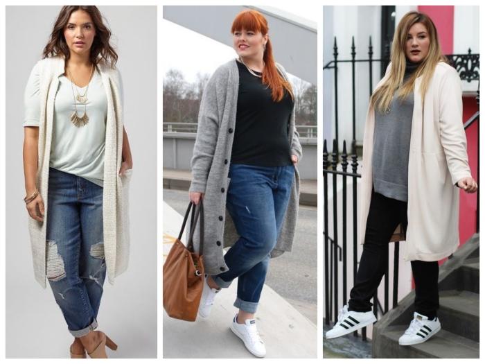 Стильные кардиганы для полных женщин. \ Фото: wearjust.ru.