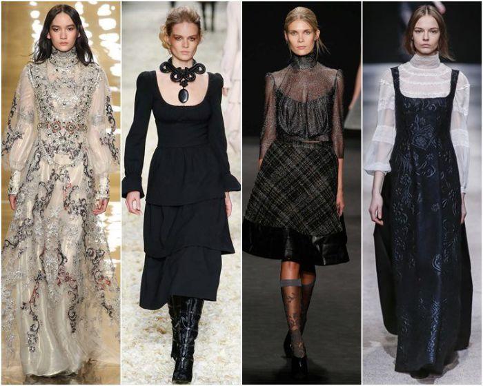 Викторианский стиль в одежде. \ Фото: pinterest.com.
