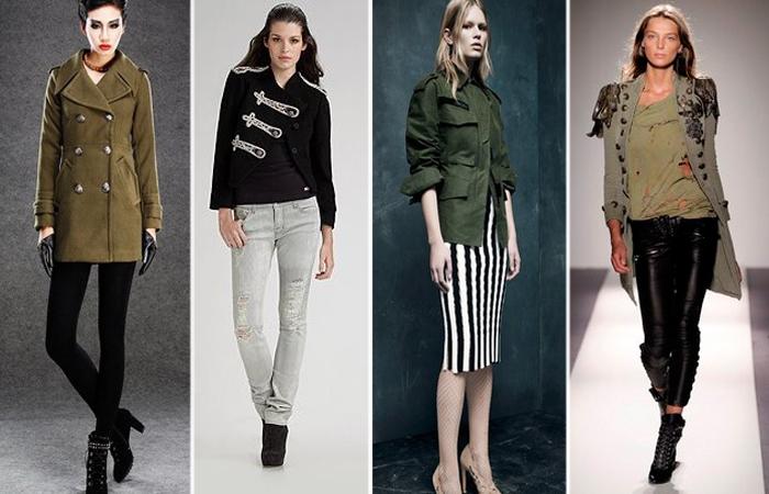 Стиль милитари в женской одежде. \ Фото: stylish-lady.ru.