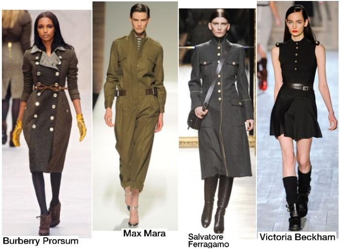 Военный стиль в одежде. \ Фото: matrony.ru.