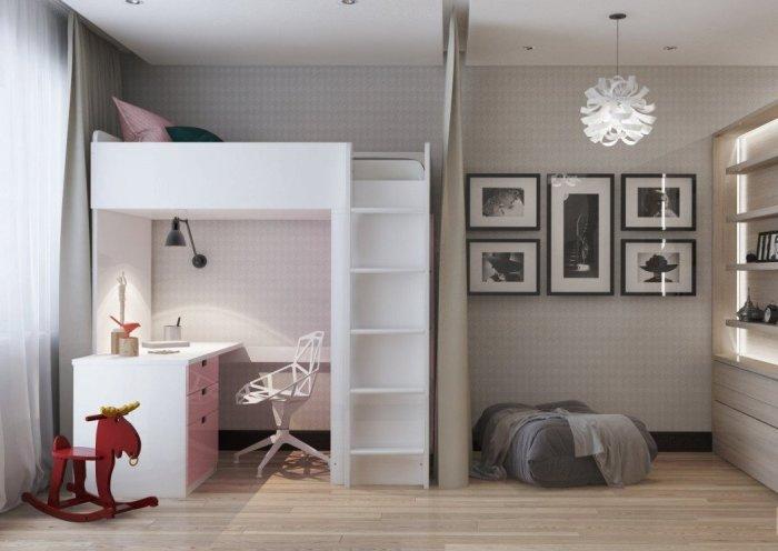 Современные идеи однокомнатной квартиры для семьи с ребёнком.