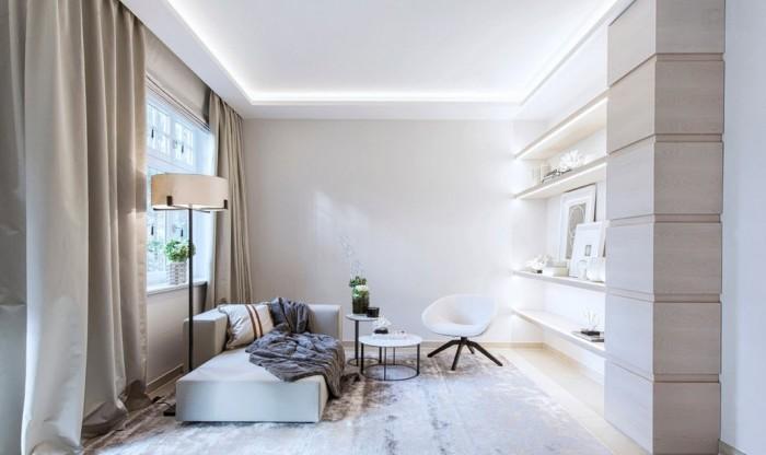 Светлый интерьер - идеальное решение для маленькой квартиры.
