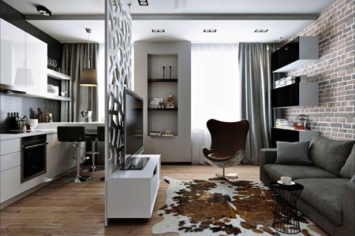 Дельные советы по обустройству маленькой однокомнатной квартиры.