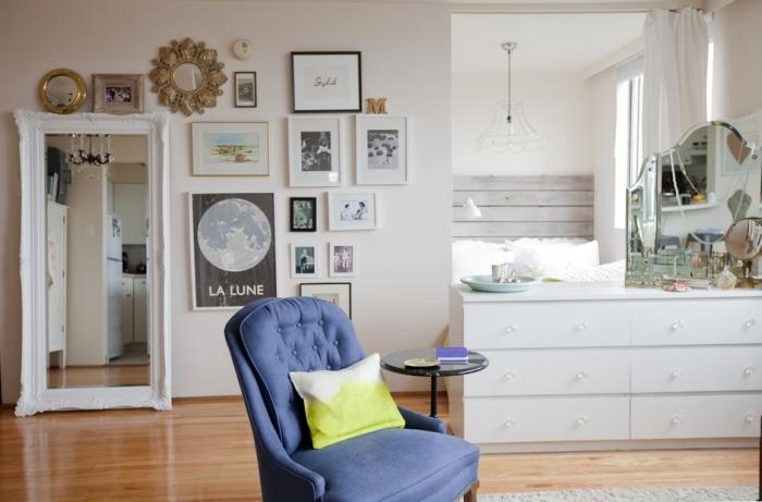 Современный дизайн однокомнатной квартиры-студии.