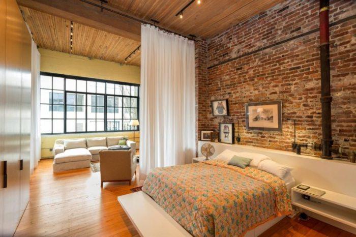 Дизайн спальни в однокомнатной квартире.