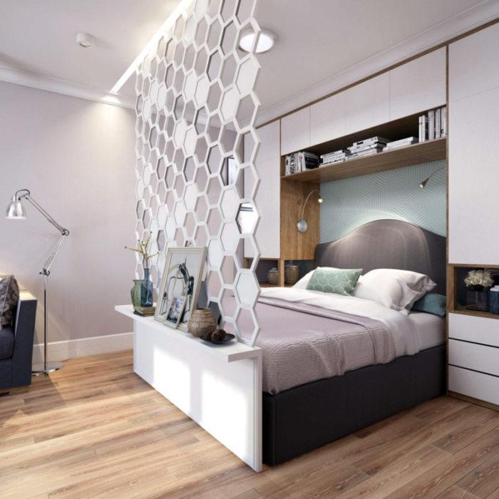 Выбирайте светлую компактную и многофункциональную мебель.