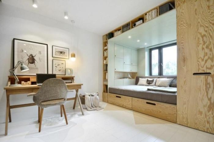 Спальная ниша - идеальный вариант для однокомнатной квартиры.