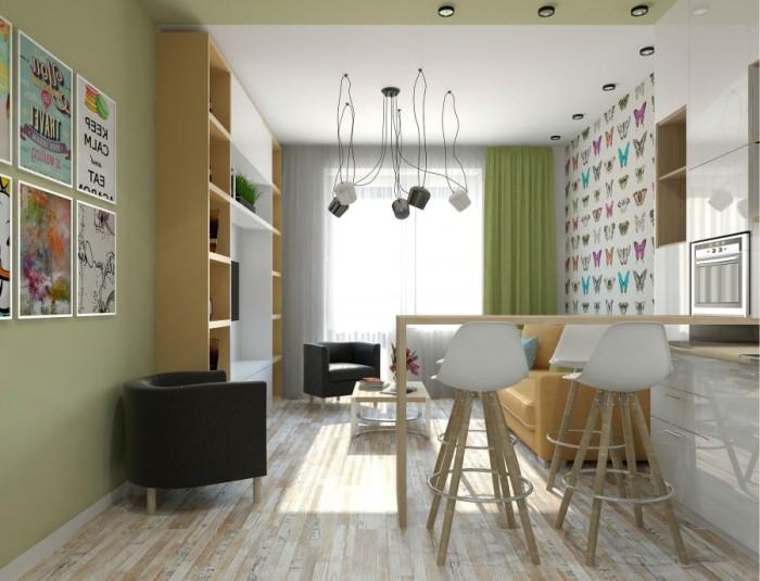 Квартира-студия - один из самых распространённых вариантов.