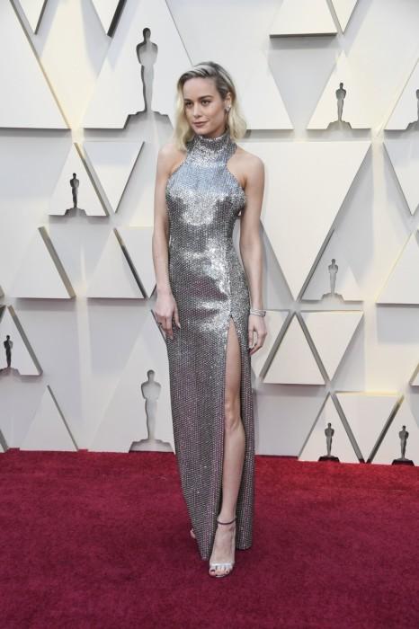 Ларсон появилась в платье от Celine by Hedi Slimane. \ Фото: google.ru.