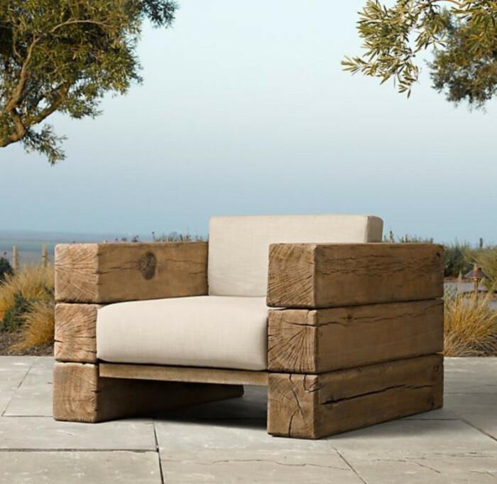 Кресло из бруса. \ Фото: old.funtime.ge.