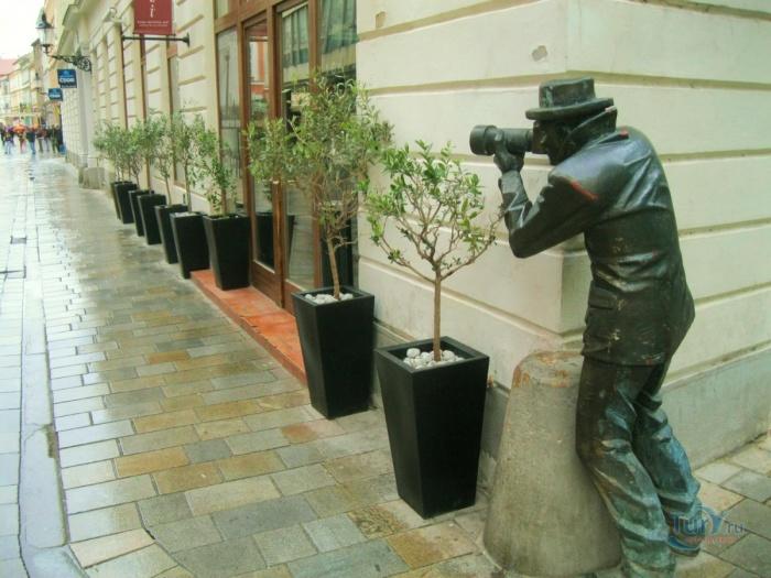 Памятник «охотнику» за пикантными подробностями.